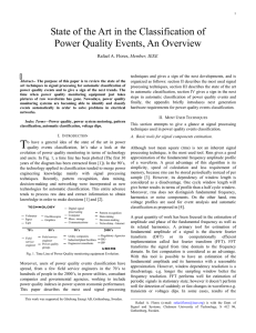 State of the Art in the Classification of Power Quality Events, An