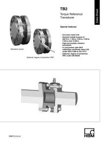Torque Reference Transducer Data Sheet
