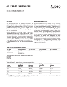 Reliability Data Sheet