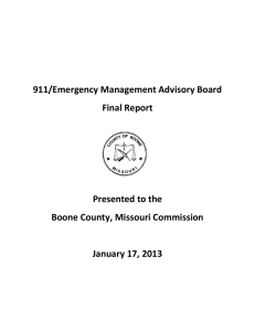 911/Emergency Management Advisory Board