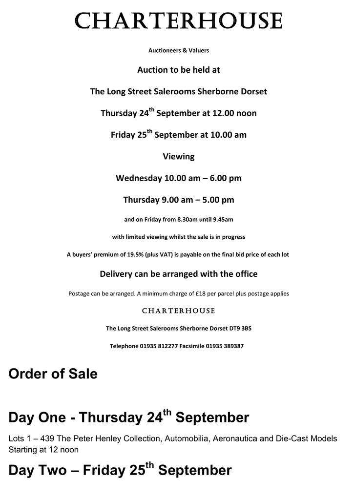 CHARTERHOUSE Catalogue Sept 2015