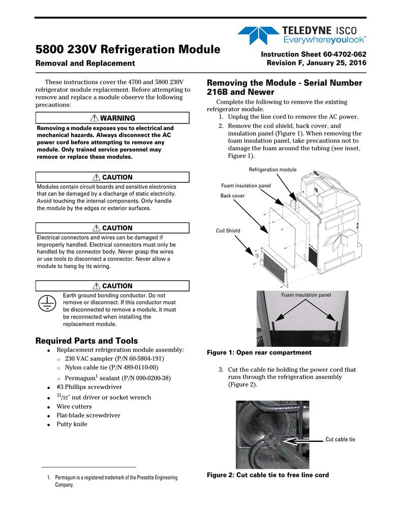 5800 230v Refrigeration Module Refrigerator Compressor Wiring Diagram