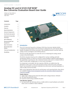Bus Converter Evaluation Board User Guide
