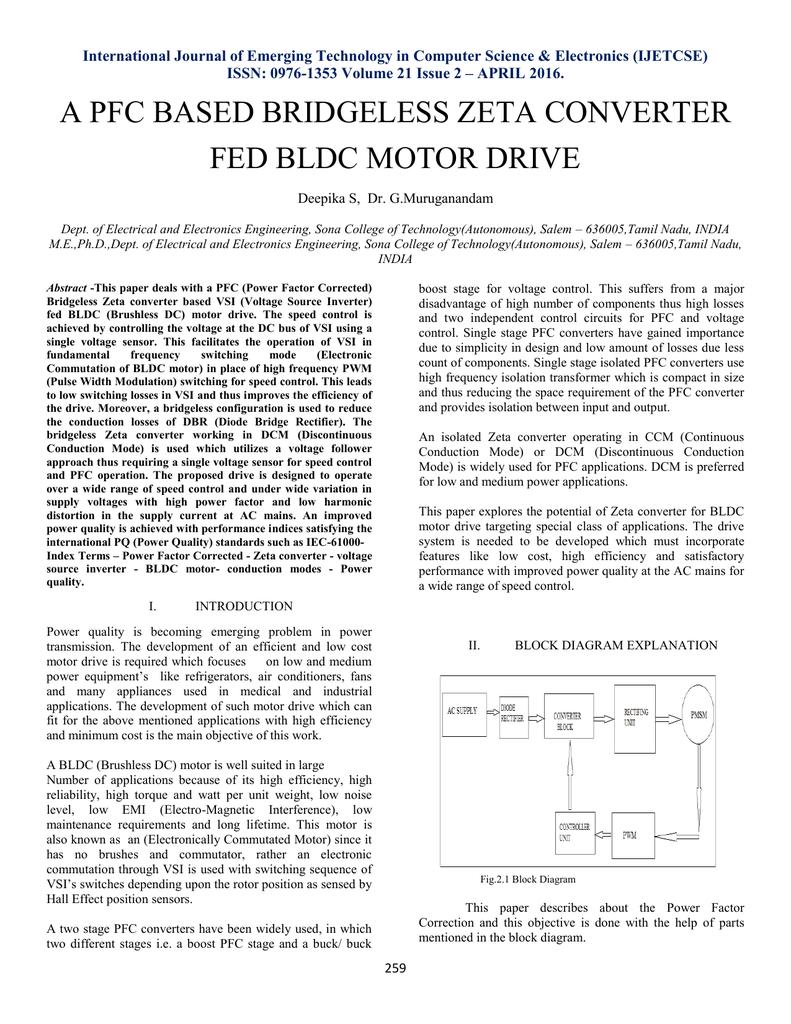 A Pfc Based Bridgeless Zeta Converter Fed Bldc Motor Drive Brushless Dc Driver Block Diagram 018884604 1 0ca85288a427aabe266216974a55d7e3
