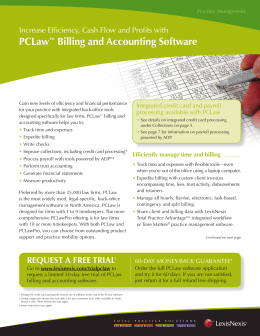 PCLaw™ Billing and Accounting Software
