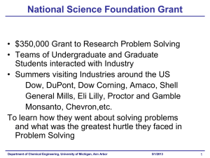 National Science Foundation Grant