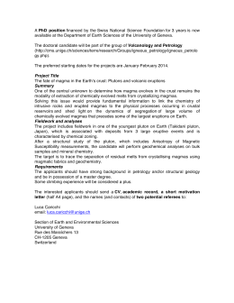 A PhD position financed by the Swiss National Science Foundation