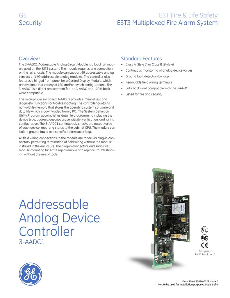 Data Sheet 85010-0128 -- Addressable og Device Controller on