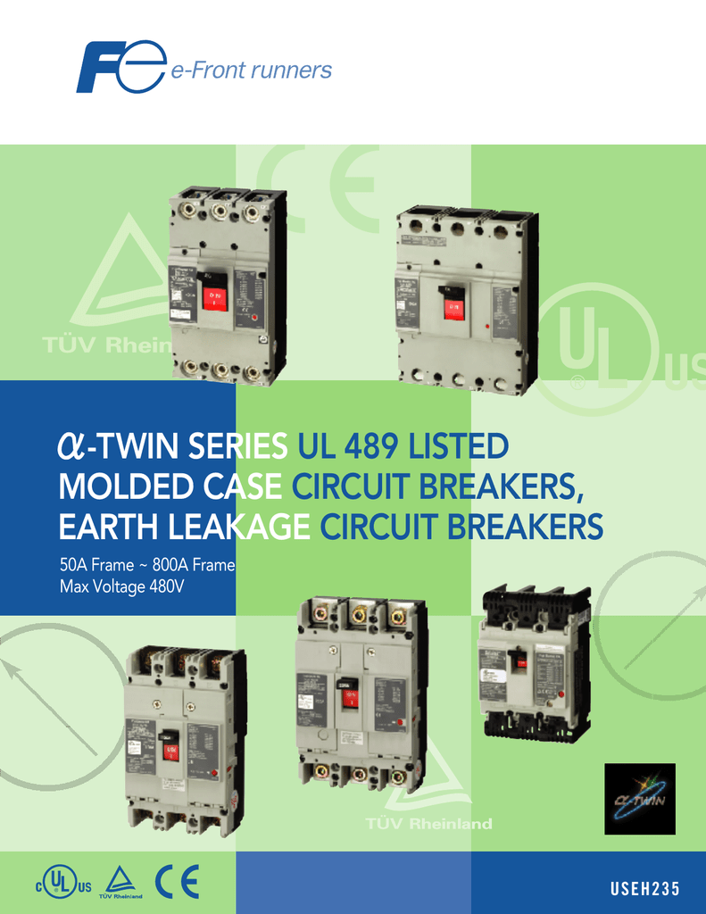 Twin Series Ul 489 Listed Molded Case Circuit General Electric Breaker Ul489 D 3p 5a 240vac