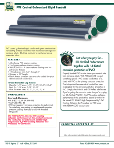 PVC Coated Galvanized Rigid Conduit