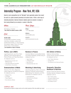Internship Program s New York, NY, USA