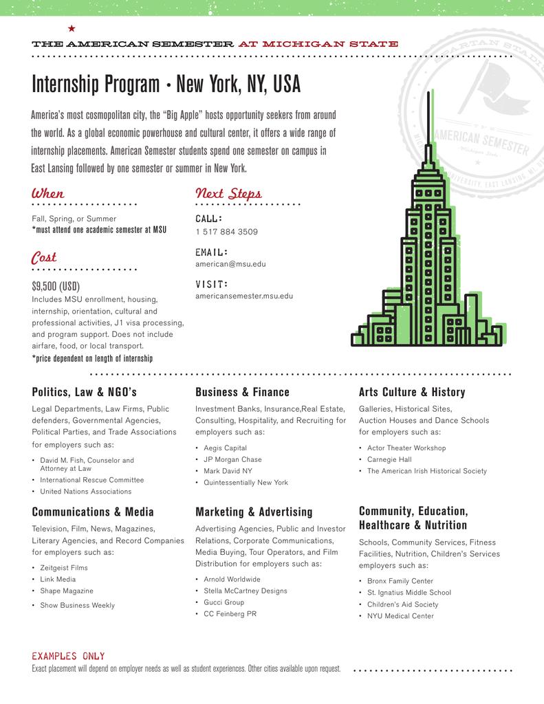 Internship Program s New York, NY, USA