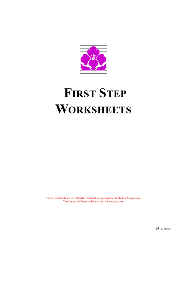 First Step Worksheets