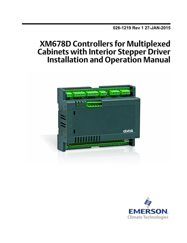 XM678D IO Manual book - Emerson Climate Technologies
