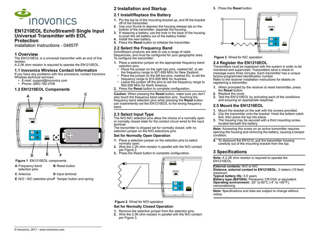 En1210eol Installation Instructions Wiring Diagram To Eliminate Battery Save