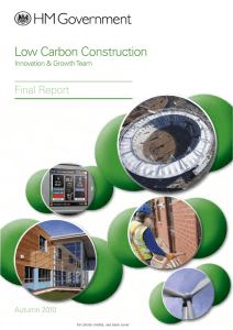 Low Carbon Construction Innovation and Growth Team