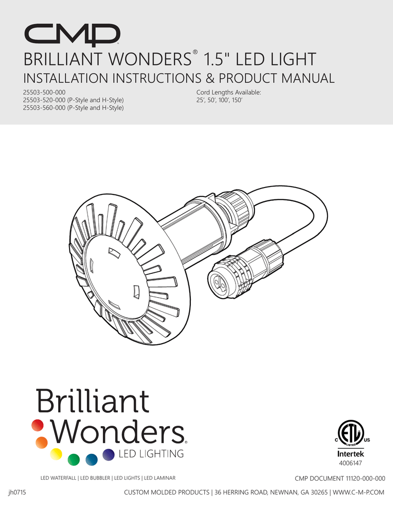 Brilliant Wonders 174 1 5 Quot Led Light