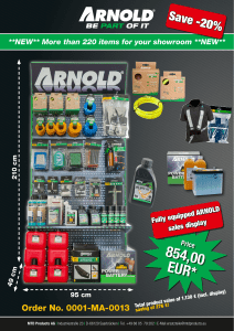 854,00EUR - Arnold Products