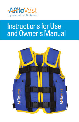 Instructions for Use and Owner`s Manual