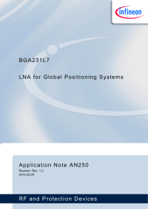 Infineon AppNote AN250 GPS GNSS Low Noise Amplifier BGA231L7