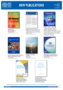 New IOM Publications August 2016