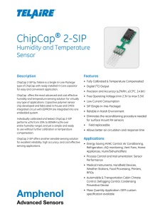 ChipCap® 2-SIP Humidity and Temperature Sensor