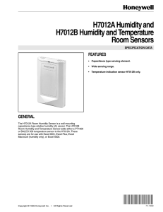 74-1868 - H7012A Humidity and H7012B Humidity and