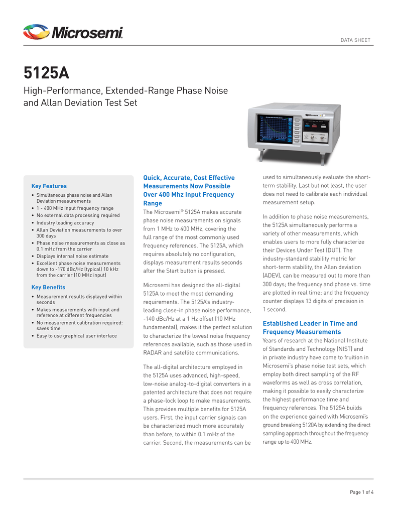 5125a Test Set 1hz To 1mhz Frequency Meter With Digital Display