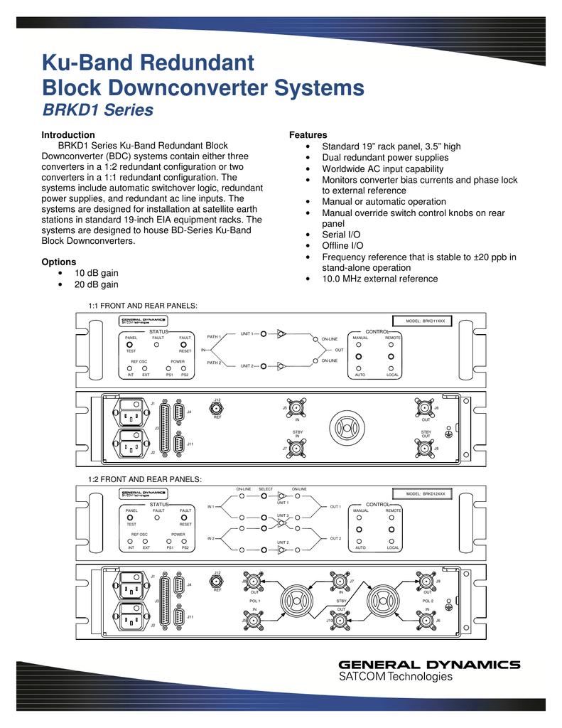 BRKD1 Series - General Dynamics SATCOM Technologies
