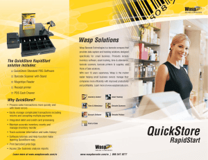 Why QuickStore? - Wasp Barcode Technologies