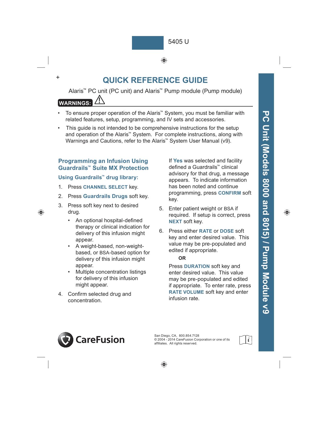 Bd Alaris U2122 Manual Guide