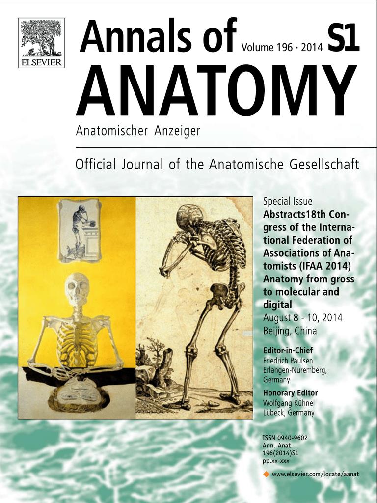 Único Anales De La Anatomía Anzeiger Anatomischer Embellecimiento ...