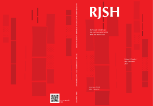 Volume 2, Number 2 July - December 2015 www.rsu.ac.th/rjsh ISSN
