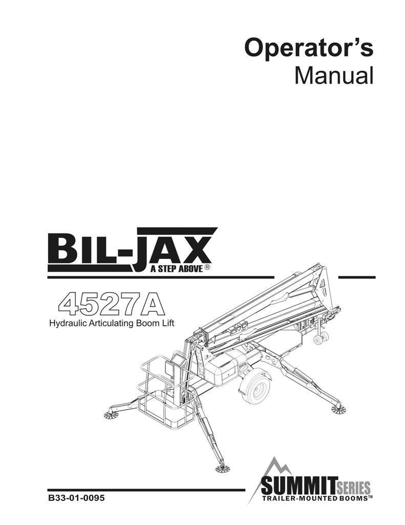 Bil-jax 4527A Operator Manual