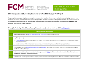GMF Prerequisites and Supporting Documents for a