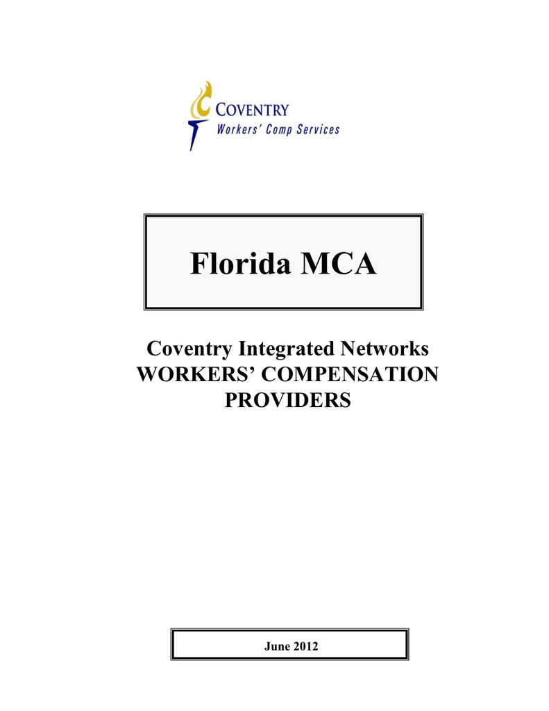 florida providers coventry workers comp services