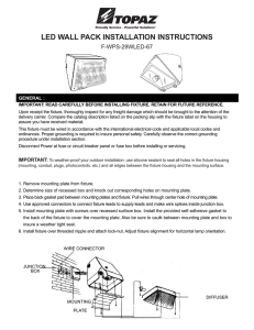 LED WALL PACK INSTALLATION INSTRUCTIONS