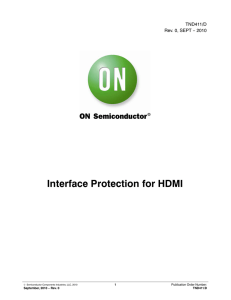 Interface Protection for HDMI