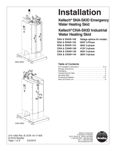 SNA-SKID and CNA-SKID Water Heating Skids