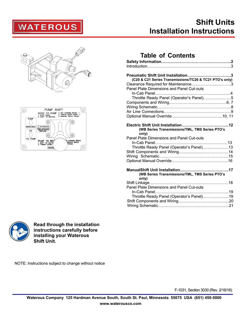 Sec 3030 Pump Shift Installation Allison 3000 Wiring Diagram