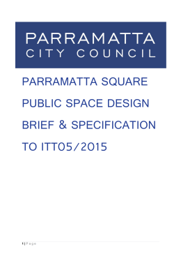 Parramatta Square Public Space Design Brief and Specification