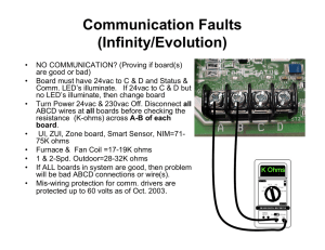 Communication Faults (Infinity/Evolution)