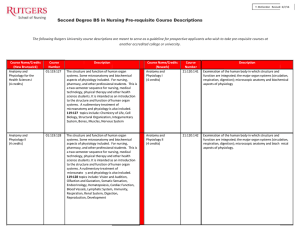 View Sample Prerequisite Course Descriptions