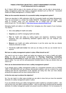 Safety management systems self assessment tool
