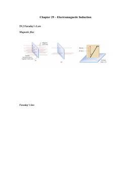 Chapter 29 – Electromagnetic Induction