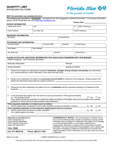 Physician Fax Form