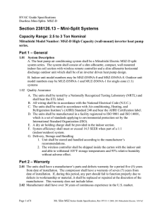 Section 238126.13 – Mini-Split Systems