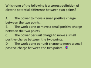 Which one of the following is a correct definition of electric potential