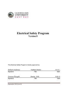 Electrical Safety Program - California State University, East Bay
