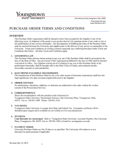 Purchase Order Terms and Conditions